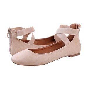 Beautiful Vegan Suede Pink Ballet Flats NEW!!